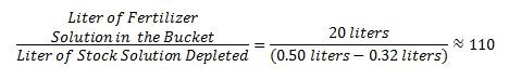 Example of Injection Ratio Calculations