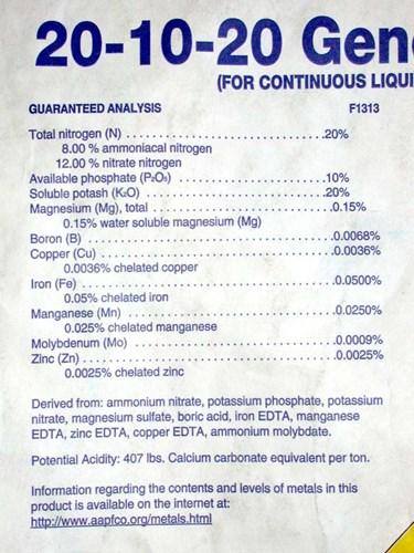 Comment lire les tiquettes d 39 engrais pro mix par for Engrais 10 10 10