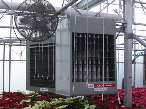Overheat, forced air heating systems. Source: Premier Tech Horticulture