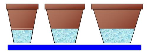 Same substrate height different pot size diameter from PRO-MIX Greenhouse Growing