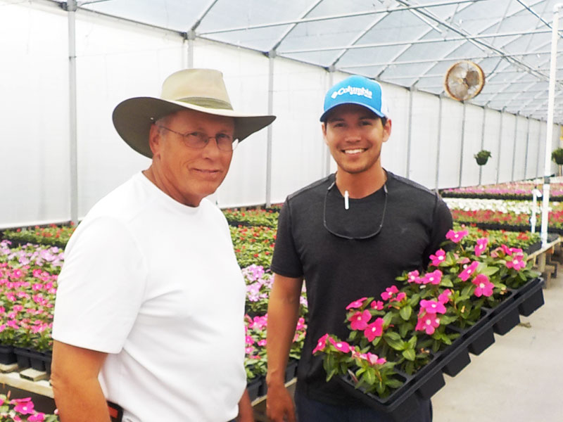 Paul and Justin Bann de Conroe Greenhouse au Texas