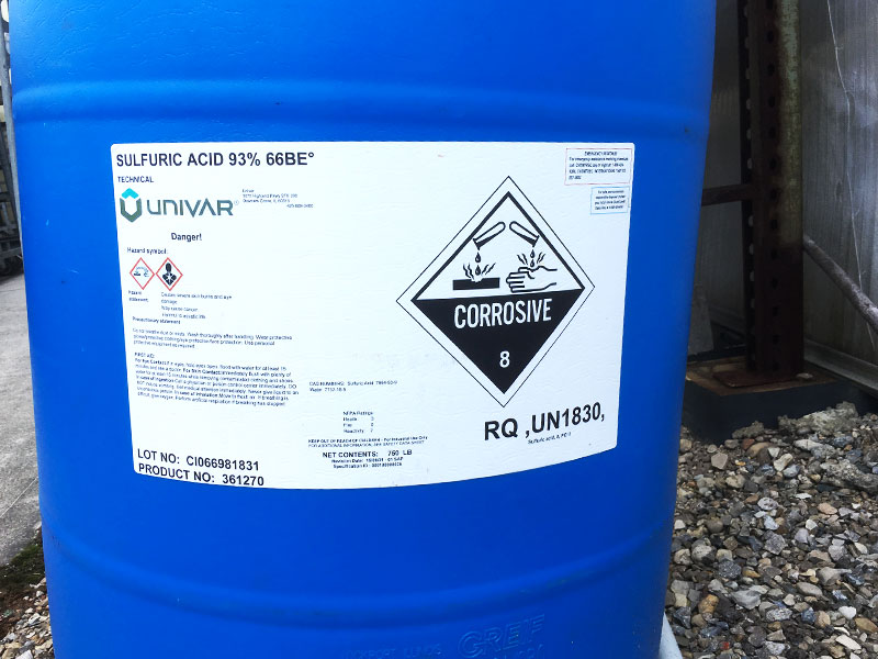 Acid tanks - PRO-MIX Acid Choices for Reducing Water Alkalinity